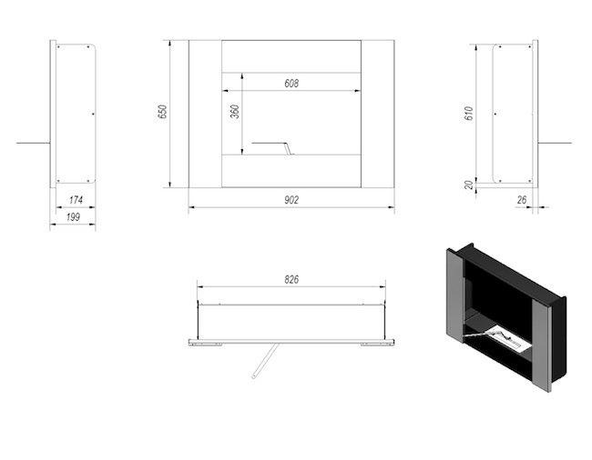bio ethanol kamin venezia ii. Black Bedroom Furniture Sets. Home Design Ideas