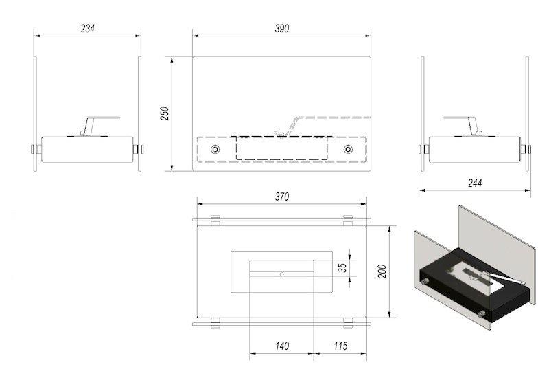 bio ethanol kamin roma mini. Black Bedroom Furniture Sets. Home Design Ideas