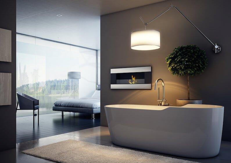 Ethanol Kamin im Badezimmer – entspannte Stunden in der heimischen Wohlfühloase
